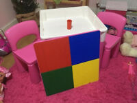table for child 1-5 years pink