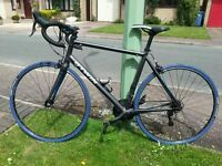 BTWIN Triban 5 road racing bike with carbon forks/shimano components, upgrades