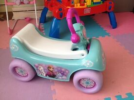 As new condition Frozen Ride & Pull Toy