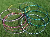 Custom, Handmade Adult and Child Hula Hoops