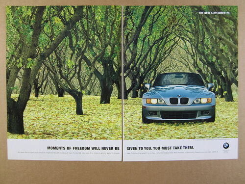 1997 BMW Z3 car trees leaves photo vintage print Ad