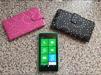 neon green windows mobile phone