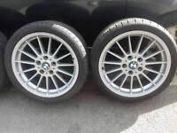 "Bmw style 32 genuine 18""alloy wheels 5x120"