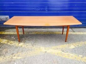 MID CENTURY TEAK & BEECH COFFEE TABLE by GORDON RUSSELL - Antique Vintage Retro 1