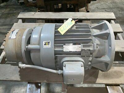Reuland 15 Hp 1800 Rpm 230460v 254t Frame Ac Electric Motor W Magnetic Brake