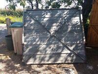 FREE metal up and over garage door - no mechanism