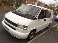 VW T4 - Rock & Roll bed, units, reverse parking sensors. Lined & insulated, Fantastic order.