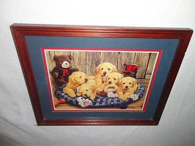 Home Interiors '' Basket of Puppies Dogs '' Picture  Sooo Cute. SALE. SALE