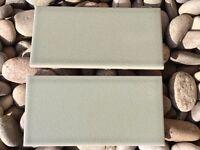 116 TILES BRAND NEW BOXED FIRED EARTH RETRO METRO GLOUCESTER ROAD GREEN TILES KITCHEN TILE FIREPLACE