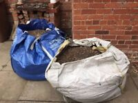 Two dumpy bags of pebbles / gravel / aggregate (ideal for filling in holes or ponds)