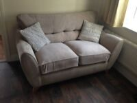 Sofa set 3+2 and armchair and footrest and 5 cousions Branded Oak furnitureland