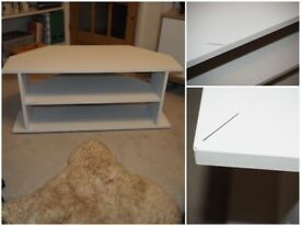 Corner TV Unit - White Effect
