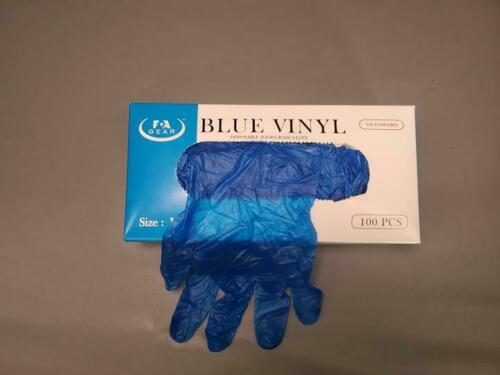 Blue Vinyl Disposable Gloves Size SMALL 2000 count case