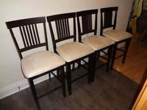 PRICE DROP 4 Beautiful Pub Style chairs like new a very must see