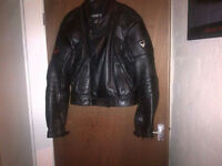 Frank Thomas Motorcycle Leather Armoured Jacket Size UK 44