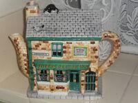 Ornamental teapots x 9