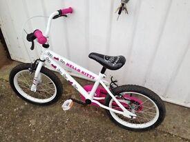 """Hello Kitty 16"""" 4-6 years bike"""
