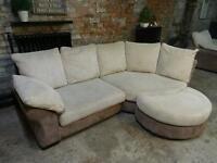 DFS Corner Sofa+Armchair+Half moon Footstool