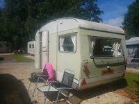 Touring caravan, retro 1965. Original condition. Up to 4 birth.