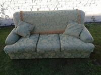 classic 3 seater traditional sofa with original covering in a good condition. FREE