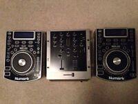 Numark NDX400 + Numark M2 Mixer