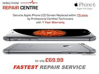 iPhone 6s 6 6 Plus SE 5s 5c 5 4s 4 LCD Screen Replacement Fastest at the MOBILE PHONE REPAIR CENTRE