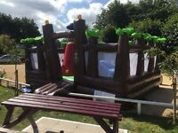 5m x 5m commercial bouncy castle - 1 years old, hardly used