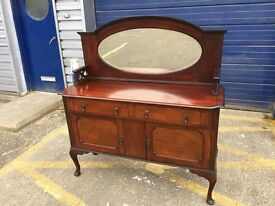 Gorgeous Antique Mahogany Mirror Backed Sideboard