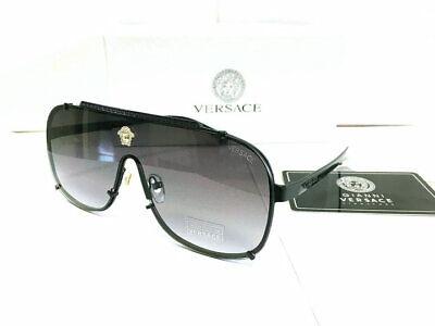 Men's Versace Sunglasses VE2612 Gray-Less Black-Frame Men Sunglasses 62mm
