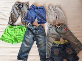 Boys Trousers and Shorts Bundle 18-24 mths