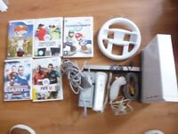 Wii Console with Mario Kart + More