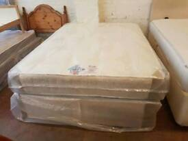Brand new Excelsior double orthopaedic double divan bed. Single and king-size also available