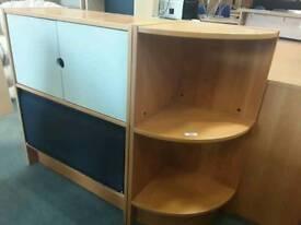 Set for sale consisting of desk, pedestal, corner unit and storage cupboard