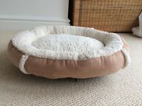 Brand new cat bed, feeding bowl, collar and litter tray