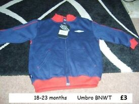 umbro jumper 18-23 months bnwt collection from Didcot from a smoke and pet free home