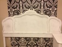 French Provincial Style Bedside Table & Headboard