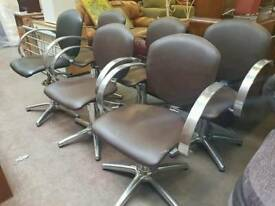 Metal hairdressing chairs