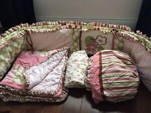 Kit de lit bébé fille