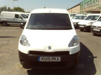 Peugeot Partner 850 1.6HDI Professional 92ps 3 seats DIESEL MANUAL WHITE (2015)