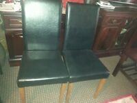 two black chairs, very good condition