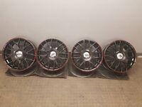 Team dynamic black alloy wheels to fit mini