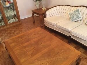 Set of 4 solid wood coffee, sofa, and end TABLES