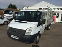 Ford Transit T350 MWB CAGED TIPPER TDCI 100PS DIESEL MANUAL WHITE (2012)