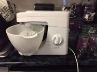 * GENUINE KENWOOD FOOD MIXER WITH ATTACHMENTS & VINYL COVER *