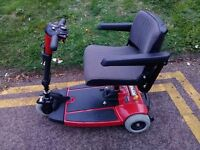 Pride 'Sonic' Mobility Scooter. Comes apart to fit into car boot. In Very Good Condition