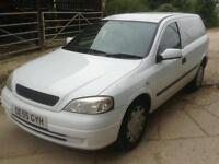 Vauxhall astra van with seats in back