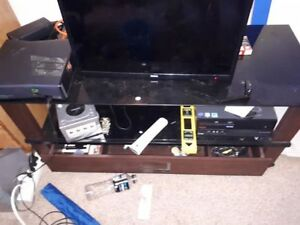 Glass TV stand with Drawer