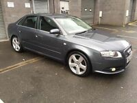 NOVEMBER 2006 AUDI A4 SLINE 2.0 DIESEL 6 SPEED MANUEL ONE OWNER JUST SERVICED