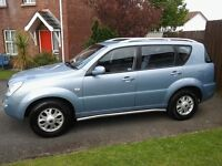SSANGYONG REXTON RX290 TDI 2005, 95500 miles, 4 X 4, MOT 26 OCT 2017 MUST BE SEEN! N.I. Newry