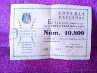 Participacion Loteria Nacional Original, Sorteo De Navidad 1944 15x10 10u -  - ebay.es